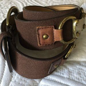 MICHAEL Michael Kors Accessories - MICHAEL MICHAEL KORS BROWN LEATHER BELT SZ M